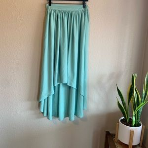 Sea Green High Low Skirt Size Small